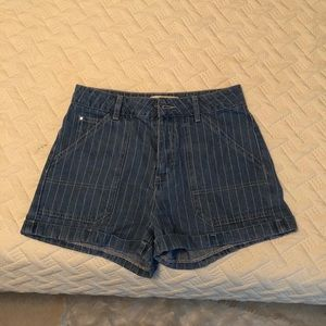 high rise stripped mom shorts from pacsun